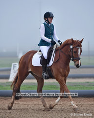 """Lisa Welch in the Level 2 riding """"Rookwood Revelry"""" representing Bendigo District ARC"""