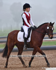 """Bronte Kelly rode """"Bremela Victories Lad"""" representing  Rich River ARC winning in the Level 4 overall on Saturday"""