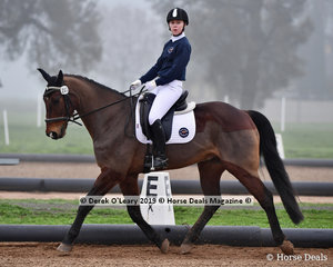 """Hannah Brian was the overall winner riding """"Cherenton Galaxy"""" representing Northern Victorian SJC in the Level 2 on Saturday"""