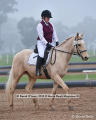 "Lyn Plumridge rode ""Romeo"" in the Level 4 representing Castlemaine ARC"