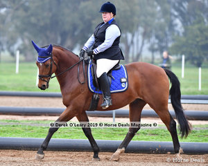 Jacinta Collard placed 3rd overall on Saturday riding Rosebrook Moscarto in the Level 2 representing Acheron Valley ARC