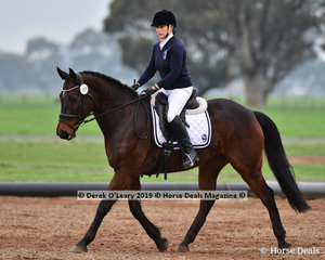 "Natalie Waters riding ""CC Winton"" representing Bendigo in the Level 4"