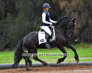 """Nirrelle Somerville rode """"Wenona of Bella Donna"""" representing Wyena ARC placing second overall in the Level 1 on Saturday"""