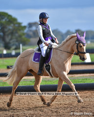"Mandy Etherton rode ""Manetheren Arwen"" in the Level 1 representing Mitchell Equestrian Club"
