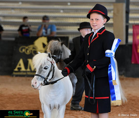 Competing in the 6-9 year old Best Presented class Annabelle Bryce impressed the judge and took out the win on Sunday at the AMHS QLD State Championships