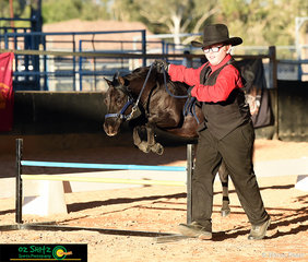 Final event of the 2019 Queensland AMHS State Show was the Youth Hunter Classes with Riley Cook and Grace Peak Grand Illusion showing great form over their jumps.