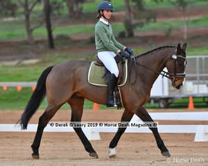 """Alexandra Durante rode """"Voodoo"""" representing Barwon Valley Pony Club in the PC Grade 2"""