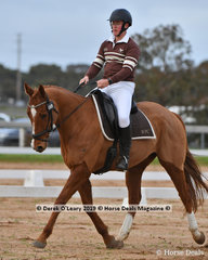 "Noah Goodwin in the Pony Club Grade 2 riding ""Hazelwood Bradsez"" representing Werribee Pony Club"