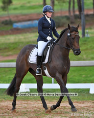 "Haylea Wright in the Open Grade 1 Dressage riding ""Princess Keikilani"""