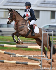 "Wendy Whiting rode her relatively new addition, ""Bhindi Boo"" in the Open Grade 2 Show Jumping."