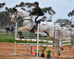 "Amanda Drummond in the Open Grade 2 Show Jumping riding ""WG Aslan"""