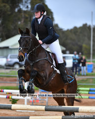 """Grace Sim in the Open Grade 3 Show Jumping riding """"Chilli Class"""""""
