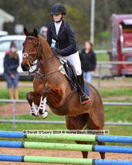 """Olivia Rivette in the Open Grade 3 Show Jumping riding """"Ingliston Park Equal"""""""
