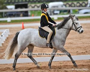 "Sophie Fosnaugh in the Pony Club Grade 5 Dressage riding ""Monahan Vagabond"" representing Gisborne Pony Club"