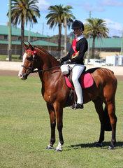 Reserve Champion Senior Rider Tianie Deas from Casion