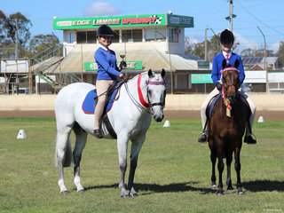Champion and Reserve Champion Senior Hack Ivy Poinen Wales and Lucy Sidney both rider from Alstonville PC