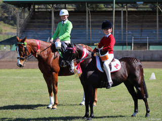Champion and Reserve Champion Junior Hack Anastasian Blanch from Murwillumbah and Georgie Lower Clarence PC