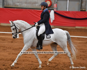 """""""Lynlea Flashdance""""  ridden by Ann Smiley placed 2nd in the FEI Prix St George with a final score of 62.941%"""