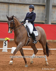 """Julie Scougall placed 2nd in the Advanced Championship riding  """"Royal Ballet RW"""" with 67 points in the Championship, they also won the Medium Championship on Sunday"""