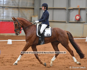 """Winner of the Elementary Championship, Katrina Bolmat riding """"Staughton Vale Belmiro"""" finishing with 67 total points in the championship"""