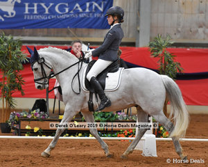 "Ashlee Hivon was the winner of the FEI Pony riding ""Garraboo Scoobie Doo"" with a total score of 61.825%"