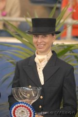 Karen Remley won the Mandavilla Catering Services Prix St Georges (CDN) with her Contango II mare, 'Belcam Corvette'.