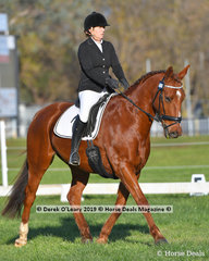 """""""Gorserella Lets Be Frank"""" ridden by Melanie Ford in the Novice 2A"""