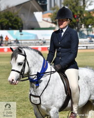 Tyler Harris rode the Styles Equestrian and A and T Harris nomination, 'Arcadian Patriot' to win the class for Welsh Mountain Pony Under Saddle and go on to be declared Reserve Champion Welsh Under Saddle.