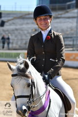 A delighted, Bianca Vankampen won the Welsh Pony Under Saddle class and went on to claim the Champion Welsh Under Saddle award with her, 'Bellgarra Royal Blue' (Brampton Prince of Thieves/Oak Park Georgia).