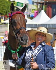 Lee Sears claimed the Thoroughbred Mare Reserve Championship with her, 'Monashee Moon' (Monashee Mountain/Artistic Selection).
