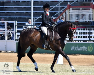 Elise Cameron and 'Balmain' took fourth place in the Highbury Cup.