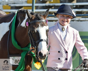 Isabella Anderson was delighted to claim the Australian Pony Mare Reserve Championship with the Anderson and Powell Family nomination, the delightful, 'Dunerlm Fashion Star' (D. Audacious/D.Star Struck)
