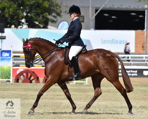 April Baxter rode her, 'Lily's Parade' to win the class for Open Lightweight Galloway 14-14.2hh.