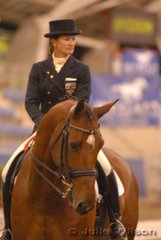 Glennis Barrey rode her Calypso Classic gelding, 'Classico II' to take second place in the Gow Gates International Prix St Georges with 68%.