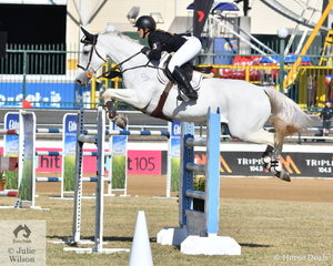 Courtney Tincknell and her mount, 'Screwdriver' are having a successful time in the Group B jumping classes.