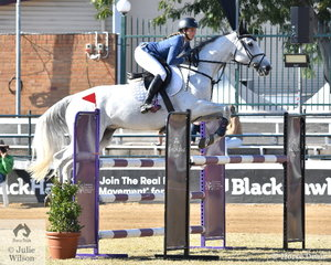 Courtney Tincknell from Yandina in Queensland had a great morning with her, 'Limo'. They took second place in the Group C class and went on to win the Young Rider class a little later.