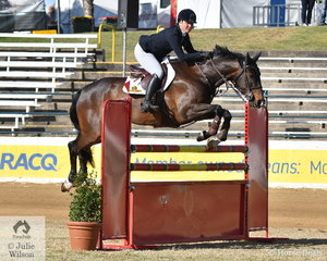 New Zealand rider, Samantha Morrison rode , 'Corfu' to take third place in the Group C jump off class this morning.