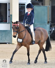 Havali Marshall rode Adam and Mayona Marshall's, 'Harrington Park Papermoon' to take second place in the class for Open Pony N.E. 12hh.
