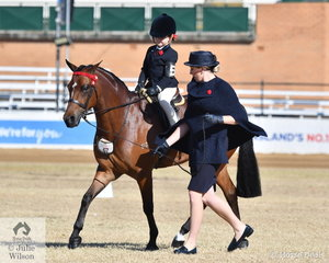 Indianah Mott is pictured doing a good job in the class for Rider 3 AU 5 Years.