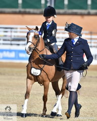 With a little help from mum, Oavoca Marshall won the class for Rider 5 AU 6 Years.