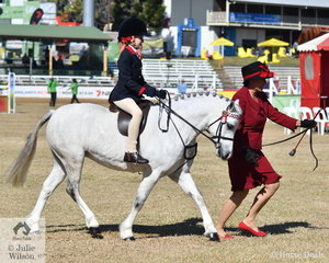 Zavanah Cochran rode well this morning to take fifth place in the class for Rider 7 AU 8 Years.