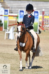 Chelsea Webb from Maudsland in Queensland rode well to take second place in the class for Girl Rider 8 AU 10 Years.