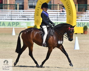 Mackenzie Thompson is already an experienced show rider and today she won the class for Girl Rider 8 AU 10 Years and went on to be declared Champion Junior Girl Rider.