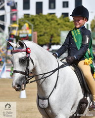 Sebastian Lucas won the class for Boy Rider 10 AU 12 Years and was declared Reserve Champion Junior Boy Rider.