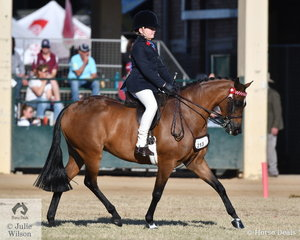 Darby Humphreys took second place in the class for Boy Rider 12 AU 15 Years.