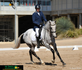 Looking the part in the Clarke and Croft Bloodstock sponsored CCN1* dressage phase was Sam Lyle and Oph Rockpool.