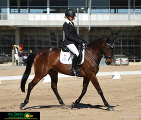 Charlotte Price rides her horse Cochrane Farms Baloo in the dressage phase of the One Star competition at Tamworth International Eventing.