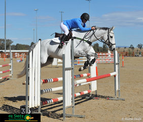 Competing in the EVA95 Open class over the weekend at AELEC in Tamworth was Katie Weatherill and her 10 year old Thoroughbred Gelding Strathbowen Bacardi