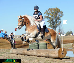 The fourteen year old mare Lady competes in her first event after being a broodmare in the 45cm with rider India Aspinall.