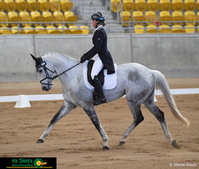 Day one of the Tamworth International One Day Event saw Chandelier dance across the arena in the CCI3* dressage phase with Emily Lang in the saddle.